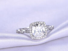 14K White Gold Wedding Rings 1.25 Ct Round Diamond Engagement Ring Size 6 7
