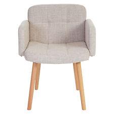 Chaise de séjour Orlando II, style rétro ~ tissu, crème/ gris