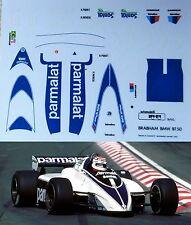 DECAL AUTOMODELLI HIFI 1/43 BRABHAM BT50 F1 1982 N.PIQUET R.PATRESE