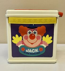 Mattel JACK IN THE MUSIC BOX Clown Pops Up Plays Music - VINTAGE 1987, Works!!