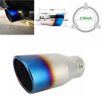 Car Exhaust Muffler Pipe Tail Half Blue Throat Large Caliber Tip Silencer Tube