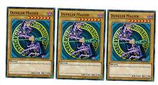 Yugioh 3 x Dunkler Magier LDK2-DEY10, 1. Auflage, Common, Boosterfrisch, Playset