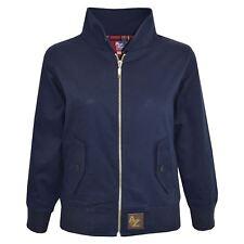 Kids Harrington Jacket Girls Boys Classic Vintage Retro 1970's Style Coat 3-4 Years Navy