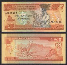 Etiopia - Ethiopia - 5 Birr  1969 = 1976  Pick 31a  SC = UNC