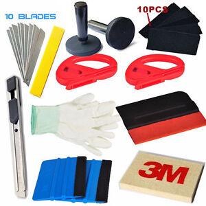 Car Window Tint Wrapping Vinyl Tools 3M Squeegee Scraper Applicator Kits