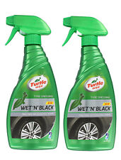 2 x TURTLE WAX WET N BLACK TRIGGER TYRE DRESSING SHINE WET LOOK GLOSS 500ml
