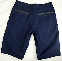 Toad & Co Casual Hiking Shorts Womens Size 2 Navy Blue Organic Cotton Blend