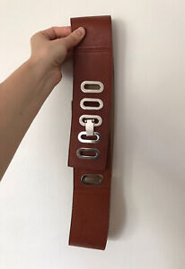 RARE As New CUE Brown Leather & Silver Hardware BELT RRP$299 SOLD OUT