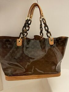 Louis Vuitton Cabas Ambre Vinyl Tote Beach Bag GM