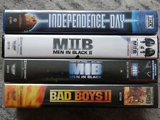 4 Will Smith Filme: Independence Day, Man in Black MIB 1 & 2, Bad Boys 2 VHS