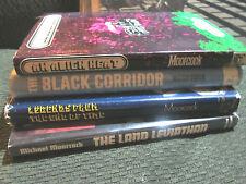 4 book lot michael moorcock HB 1st ed the land leviathan alien heat black corrid
