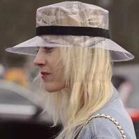 Women Soft Plastic Clear Headgear Sun Visor Cap PVC Transparent Jelly Bucket Hat