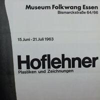 Hoflehner Rudolf altes DIN A0 Plakat 1963 Museum Folkwang Essen 60er Jahre, alt