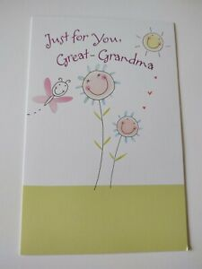 Mother's Day Card Mothers Great Grandma Gibson Flowers