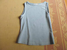 LADIES CUTE GREY SILVER SPARKLY SLEEVELESS TOP BY EVENING ROCKMANS SIZE M 8/10