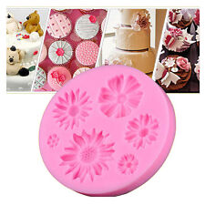 3D Flower Silicone Mold Fondant Cake Decorating Chocolate Sugarcraft Mould DIY a