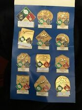 USA 1992 Olympics Pin Set 4 Sport Fuji  Pole Vault Butterfly Swim Relay Track