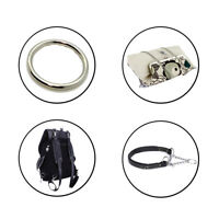 Stainless Steel Silver O Rings for Purses Pet Collar Backpack Luggage Bag Strap