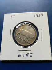 1939 Ireland One Shilling Silver Coin, No Reserve!