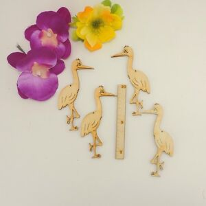 Storch, Kranich stehend 10cm 4 Stck. Basteln Karten Schilder Geschenke Deko
