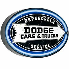 Dodge LED Neon Sign Oval Shape - Bar, Garage, Man Cave
