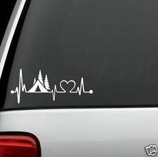 J1052 Tent Camper Heartbeat© Lifeline Monitor CAMPING Decal Sticker Car Truck