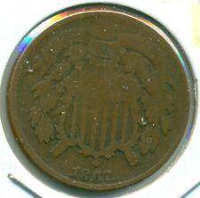 1867 TWO CENT PIECE, GOOD, GREAT PRICE!