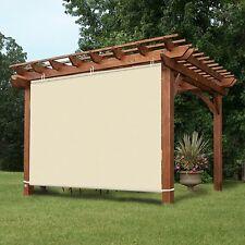 Waterproof 4x6ft Wheat Adjustable Side SunShade Panel Wall for Pergola Patio