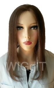 DIVA & PIZZAZ |  ASH/BLONDE | LONG HUMAN HAIR | STRAIGHT LACE FRONT WIG  | SLEEK