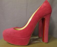 e69791061a6 Authentic Christian Louboutin Bibi Pink Pivoine Platform Red Sole Pump  Heel 38.5