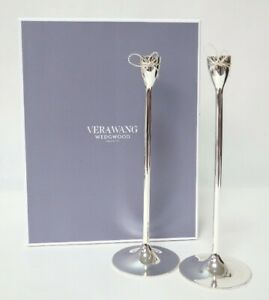 Vera Wang Wedgwood Love Knots Taper Candle Holder Set of 2x   New in Box