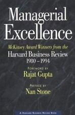 Managerial Excellence: McKinsey Award Winners from the Harvard Business Review