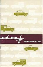 DAF Daffodil combi camionetas pick-up manual de instrucciones de 1966 ba