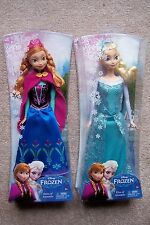 Disney Frozen ELSA and ANNA Sparkle Dolls by Mattel 2013 Original Version