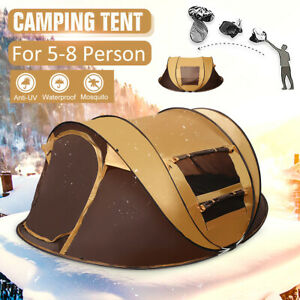 5-8 Person Automatic Camping Tent Waterproof Hiking  UV Protection Large