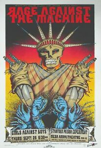 """Rage Against The Machine 13"""" X 19"""" Reproduction Concert Poster archival quality"""