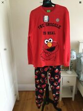 Elmo Sesame Street Men's Fleece Pyjamas Size L Large George BNWT