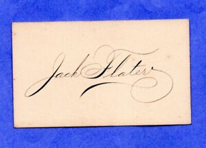 Jack Flater 1908 Philadelphia Athletics  autograph card  d.1970   Vintage