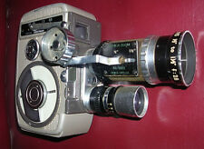 Yashica 8 movie camera with zoom and wide lenses.