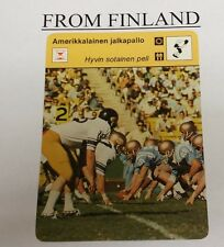 UCLA vs WASHINGTON FOOTBALL 1977 FINNISH #12-270 Sportscaster card - Finland