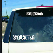 JDM Funny Stickers Vinyl Stockish Car Window Truck Sticker Racing Illest Stance