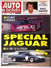 AUTO HEBDO 777 du 7/05/1991; Tour de Corse/ Spécial Jaguar/ XRJ-15 à l'essai