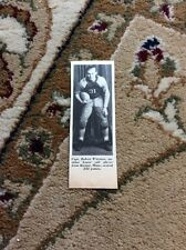 Q1-a-a Ephemera 1940 Picture Usa Football Capt Robert Wittman Kiester Minn
