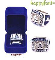 Masonic Championship Ring Past Master Mason Blue Logo Size 8-14 Men New