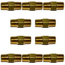 10pc 14 Npt Brass Hex Nipple 14 Male Npt X 14 Male Npt Air Fuel Oil