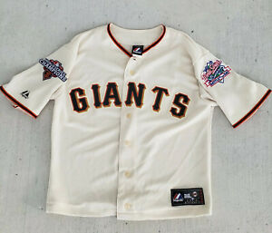 Modified Majestic San Francisco Giants World Series Jersey Patches 2012, 1989