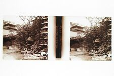 JAPON JAPAN Maison Osano Plaque de verre stereo Glass Stereoview Positif