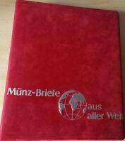 Album mit Münz-Briefen aus aller Welt - 10 Numisbriefe/Münzbriefe