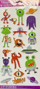 Sticko Alien Space Puffy Stickers Papercraft Planner Journal Scrapbook DIY Craft