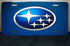 SUBARU METAL NOVELTY LICENSE PLATE TAG FOR CARS   PRINTED LICENSE PLATE